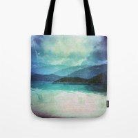 Tropical Island Multiple Exposure Tote Bag