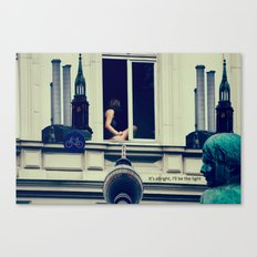 Berlin is calling the light Canvas Print