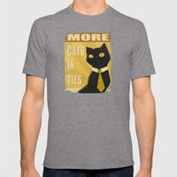 Cats In Ties - PSA Mens Fitted Tee Tri-Grey SMALL