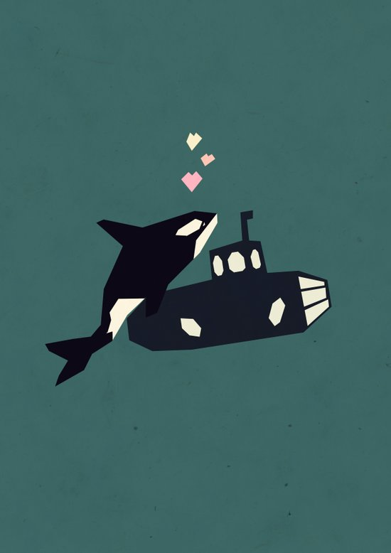 K is for Killer whale Canvas Print