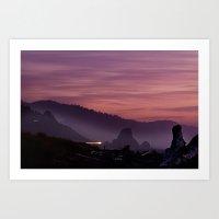 Gold Beach Sunset Art Print