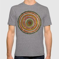 tree rings Mens Fitted Tee Tri-Grey SMALL