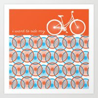 I Want To Ride My Bicycl… Art Print