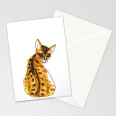 bengal kitten Stationery Cards