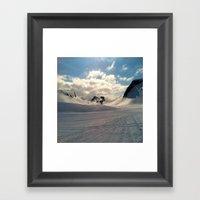 Snowcapped Iceland Framed Art Print