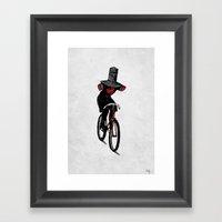 Look No Hands!  Framed Art Print