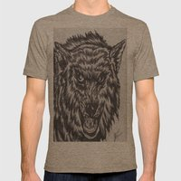Angry wolf Mens Fitted Tee Tri-Coffee SMALL