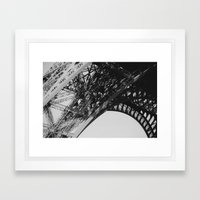 Eiffel Tower Close-up Framed Art Print