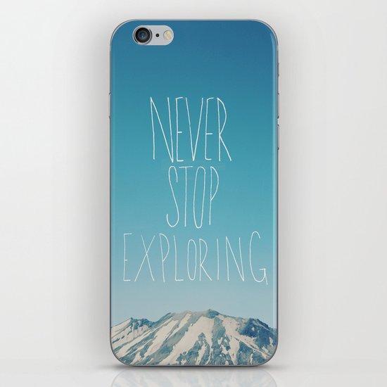 Never Stop Exploring: Mount Rainier iPhone & iPod Skin