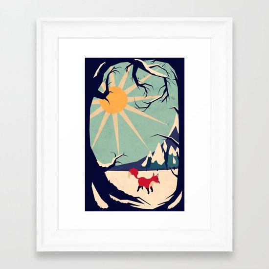 Fox roaming around II Framed Art Print