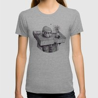 kid please draw me a house Womens Fitted Tee Athletic Grey SMALL