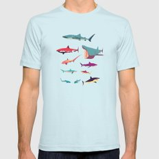 Sharks Mens Fitted Tee Light Blue SMALL