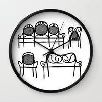 Tonet chairs Wall Clock