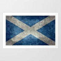 National Flag Of Scotlan… Art Print