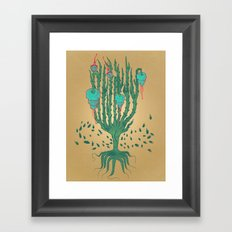 Plant with Thorns Framed Art Print