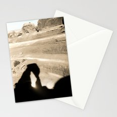 Delicate Arch shadow Stationery Cards