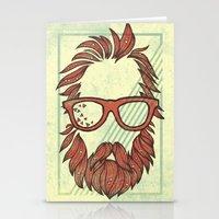 Beard and Shades Stationery Cards