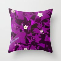 Bouganvilla delight Throw Pillow