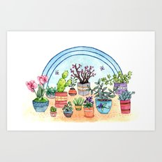 Household Plants Art Print