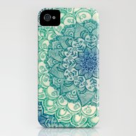 Emerald Doodle iPhone (4, 4s) Slim Case
