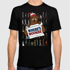Where's Wookiee Black Mens Fitted Tee SMALL