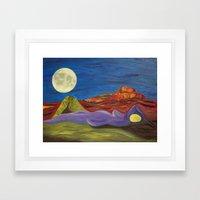 Gaia And Luna Ver. 3.0 Framed Art Print