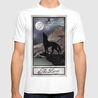 The Lover Tarot Mens Fitted Tee White SMALL