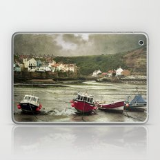 Staithes From The Harbour. Laptop & iPad Skin