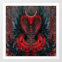Seen Through Flames And … Art Print