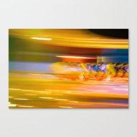 Night Light 131 - Roller Coaster Canvas Print