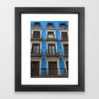 Madrid Blues Framed Art Print