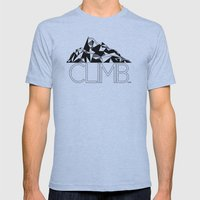 Climb Mens Fitted Tee Athletic Blue SMALL