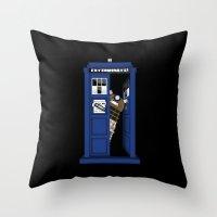 Dr. Dalek Throw Pillow