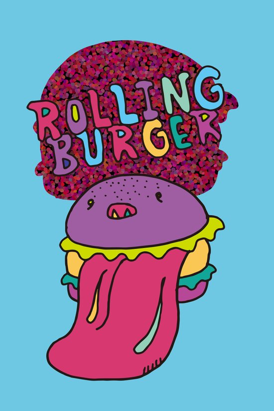 Rolling Burger Art Print