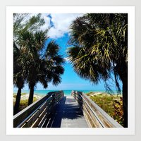 Pathway to Beach Heaven Art Print