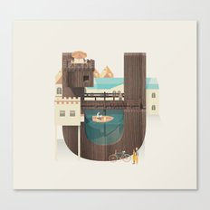 Resort Type - Letter U Canvas Print