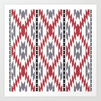 Ethnic rug pattern Art Print