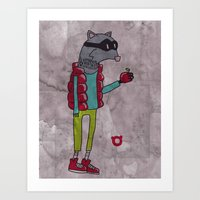 006_raccoon Art Print