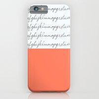 Alphabet-Coral  iPhone 6 Slim Case