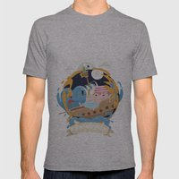 Pirate moon Mens Fitted Tee Athletic Grey SMALL