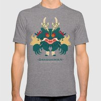 -DRAGONMAN- Mens Fitted Tee Tri-Grey SMALL