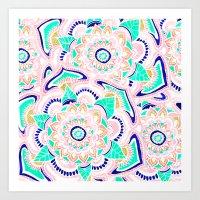 Summer Pastel Turquoise … Art Print