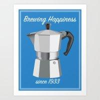 Brewing Happiness Art Print