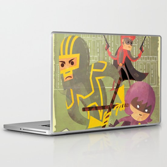 kick ass fan art 2 Laptop & iPad Skin