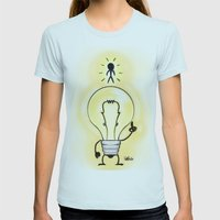 new way of thinking Womens Fitted Tee Light Blue SMALL