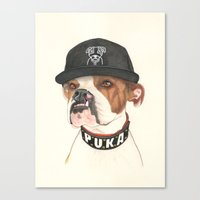 Boxer dog - F.I.P. - @chillberg (#pukaismyhomie)  Canvas Print