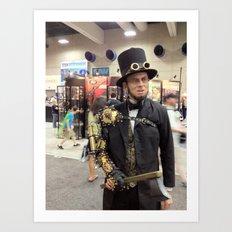 Steampunk Abraham Lincoln Vampire Hunter Art Print