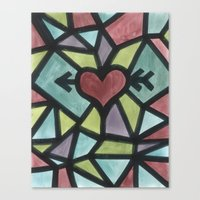 Stained Love Canvas Print