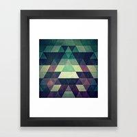 Dysty_symmytry Framed Art Print