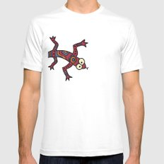 Lizard White Mens Fitted Tee SMALL